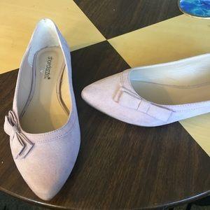 Shoe dazzle Ballet Flats light pink bow Detail 8.5